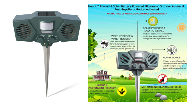 Hoont Powerful Solar Pest Repeller: photo