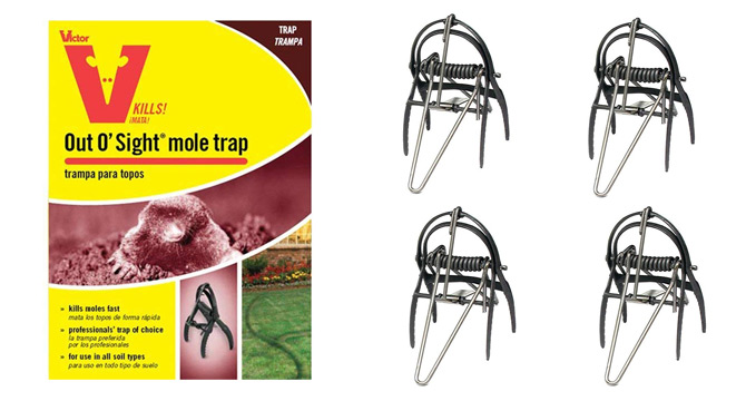 Victor Out O'Sight Mole Trap: photo